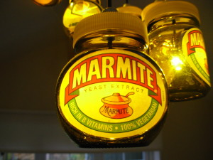 Close-up of the Marmite Jar Chandelier in action
