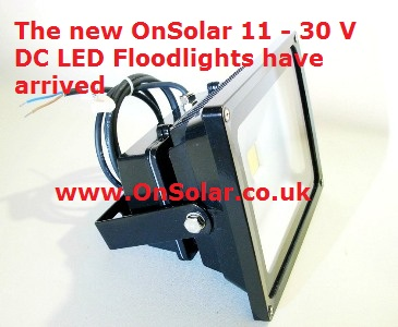 OnSolar 12v 30w floodlight