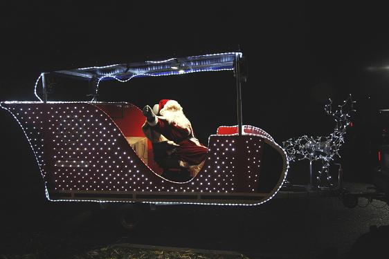 Santa's Sleigh using OnSolar 12V Floodlights