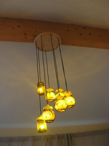 The Marmite Jar Chandelier in action